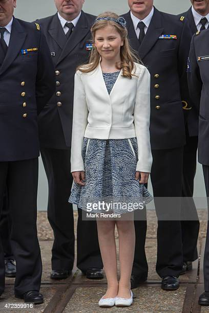 Princess Elisabeth of Belgium is seen during the Patrol Ship Pollux's inauguration on May 6 2015 in Zeebrugge Belgium