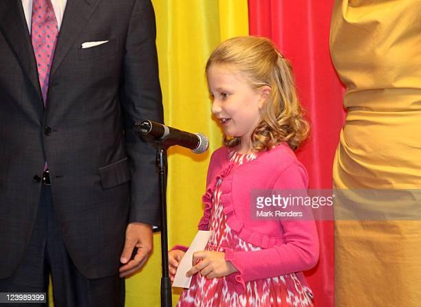 Princess Elisabeth of Belgium photographed during the inauguration at Princess Elisabeth Children Hospital on September 7 2011 in Gent Belgium