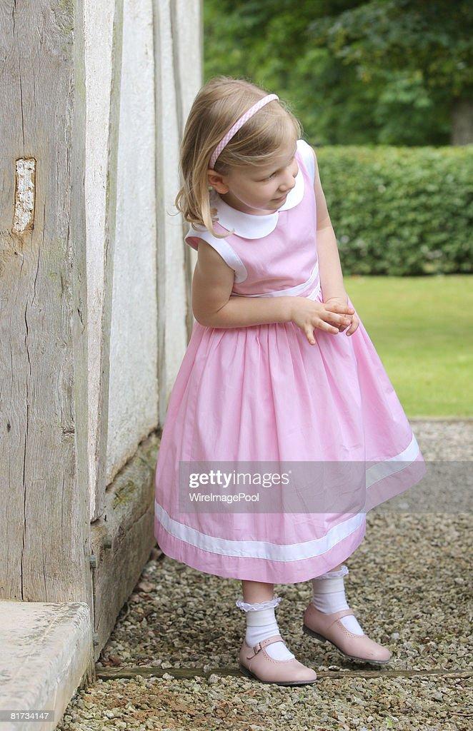 Princess Elisabeth of Belgium poses for a photo at Ciergnon Castle on June 14, 2008 in Ciergnon, Belgium.