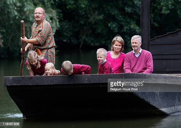 Princess Elisabeth of Belgium Princess Eleonore of Belgium Prince Gabriel of Belgium Prince Emmanuel of Belgium Princess Mathilde of Belgium and...