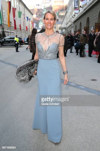 Princess Elisabeth von Auersperg during the Easter Opera Festival opening premiere of 'Tosca' at Grosses Festspielhaus on March 24 2018 in Salzburg...