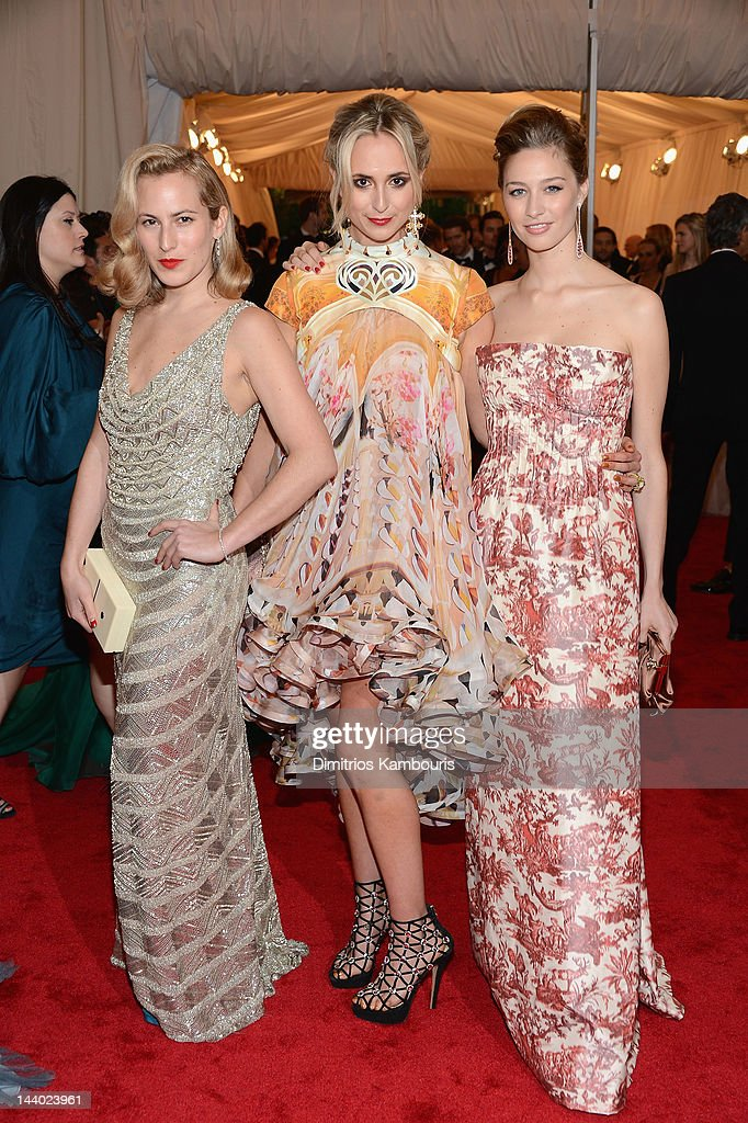 Princess Elisabeth von Thurn und Taxis (center) attends the 'Schiaparelli And Prada: Impossible Conversations' Costume Institute Gala at the Metropolitan Museum of Art on May 7, 2012 in New York City.