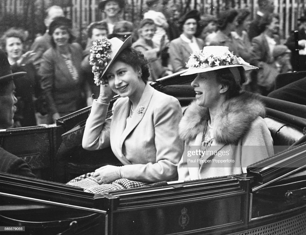 Princesses Elizabeth And Mary Attend Ascot : News Photo