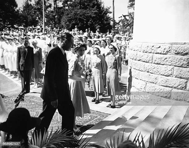 Princess Elizabeth and Prince Philip the Duke of Edinburgh arriving at the Princess Elizabeth Hospital in Nairobi February 3rd 1952