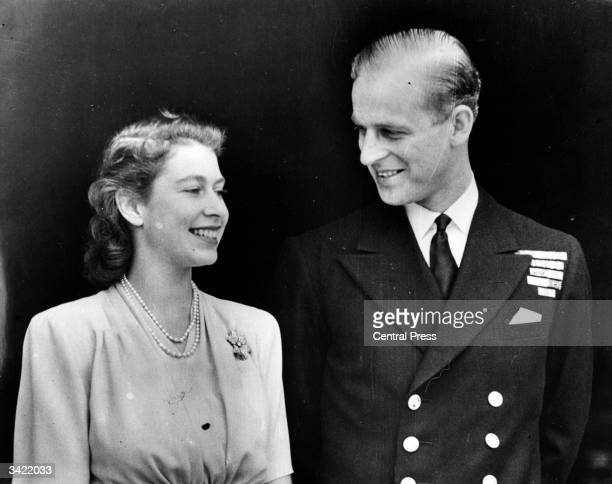 Princess Elizabeth and the Duke of Edinburgh.