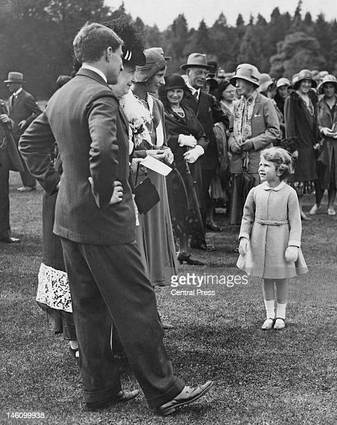 Princess Elizabeth at a garden party held at Glamis Castle in Angus Scotland 12th August 1931 The event is in celebration of the golden wedding of...