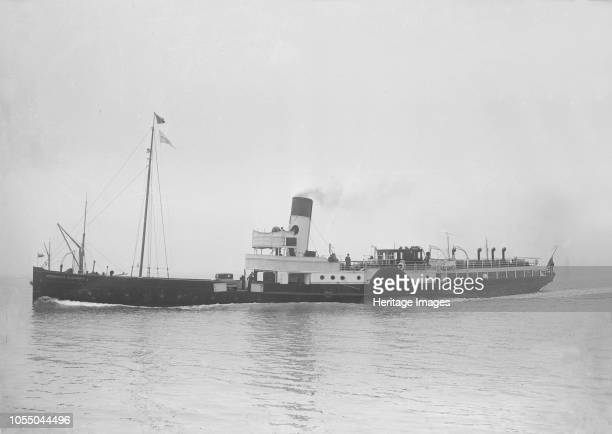 Princess Elizabeth' circa 1927. Built in 1927 the paddle steamer 'PS Princess Elizabeth' originally had a short black and white funnel which was...
