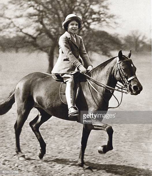 Princess Elizabeth future Queen Elizabeth II as a child aged 9 1935