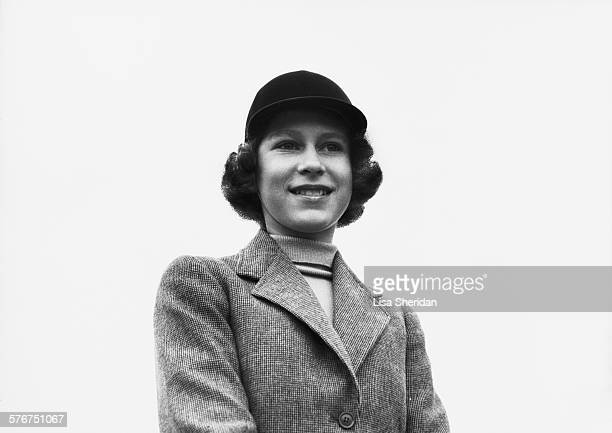 Princess Elizabeth in a riding habit and riding hat Royal Lodge Windsor UK April 1940