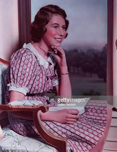 Princess Elizabeth, later Queen Elizabeth II, as a teenager at Windsor Castle.