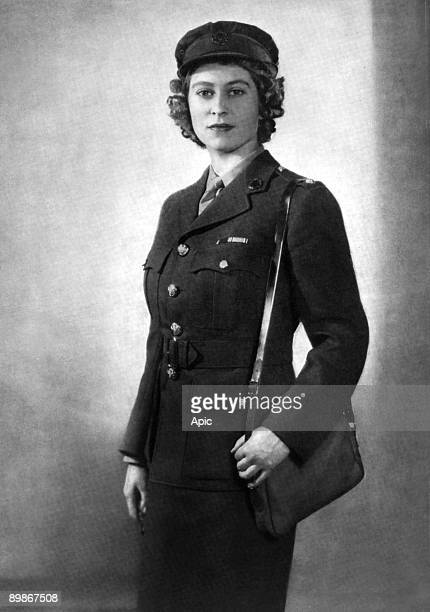 Princess Elizabeth of England young as second subaltern in ATS 1945