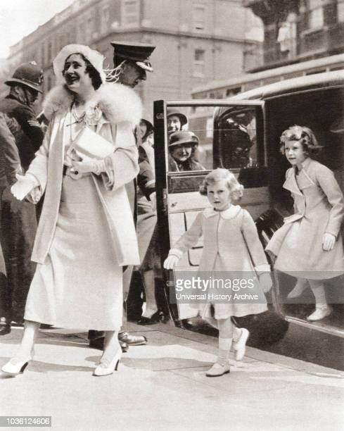 Princess Elizabeth of York, future Elizabeth II, born 1926. Queen of the United Kingdom. From The Coronation Book of King George VI and Queen...