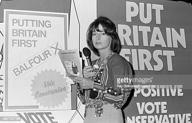 Princess Elizabeth of Yugoslavia campaigning in the General Election for her boyfriend later her husband Neil Balfour in Hayes Middlesex on 30th...