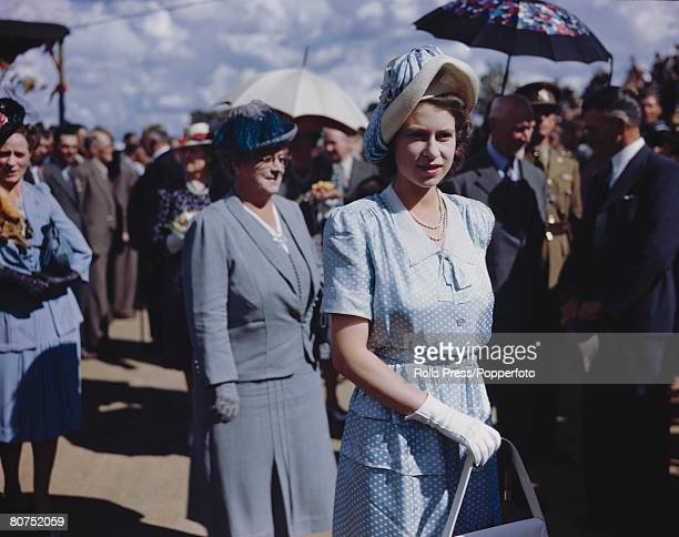 Princess Elizabeth pictured on the Royal Tour to South Africa in 1947