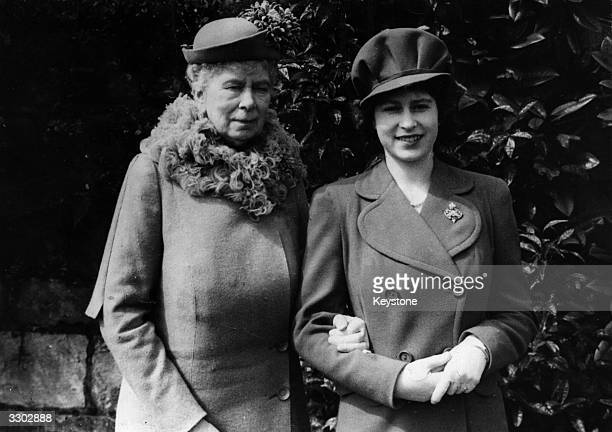Princess Elizabeth with her grandmother Queen Mary