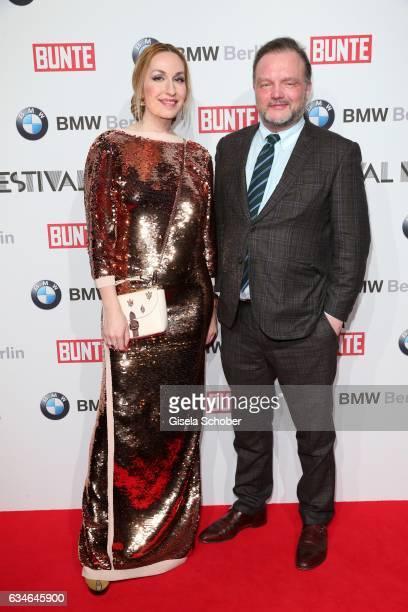 Princess Elna Margret zu Bentheim and Alexander Fuerst zu SchaumburgLippe during the BUNTE BMW Festival Night during the 67th Berlinale International...