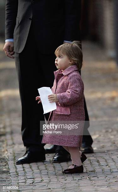 Princess Eloise Sophie Beatrix Laurence attends the Royal Christening of her brother ClausCasimir Bernhard Marius Max Graaf of OranjeNassau son of...