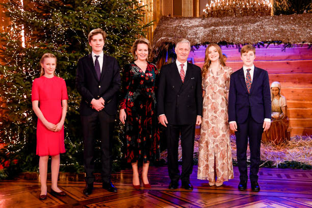 BEL: King Philippe Of Belgium, Queen Mathilde, Prince Emmanuel And Princess Eleonore Attend The Christmas Concert By The Scala Choir At the Royal Palace In Brussels