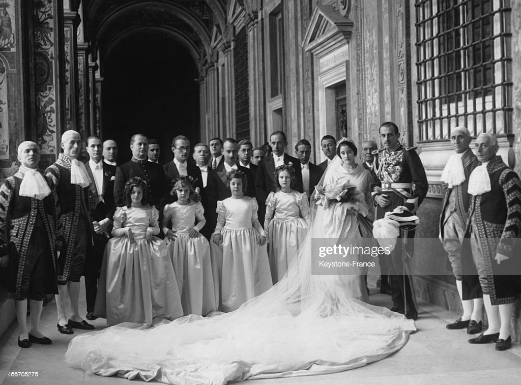 Wedding Of Princess Emmanuelle Of Dampierre And Of Spanish Infante Don Jaime : News Photo