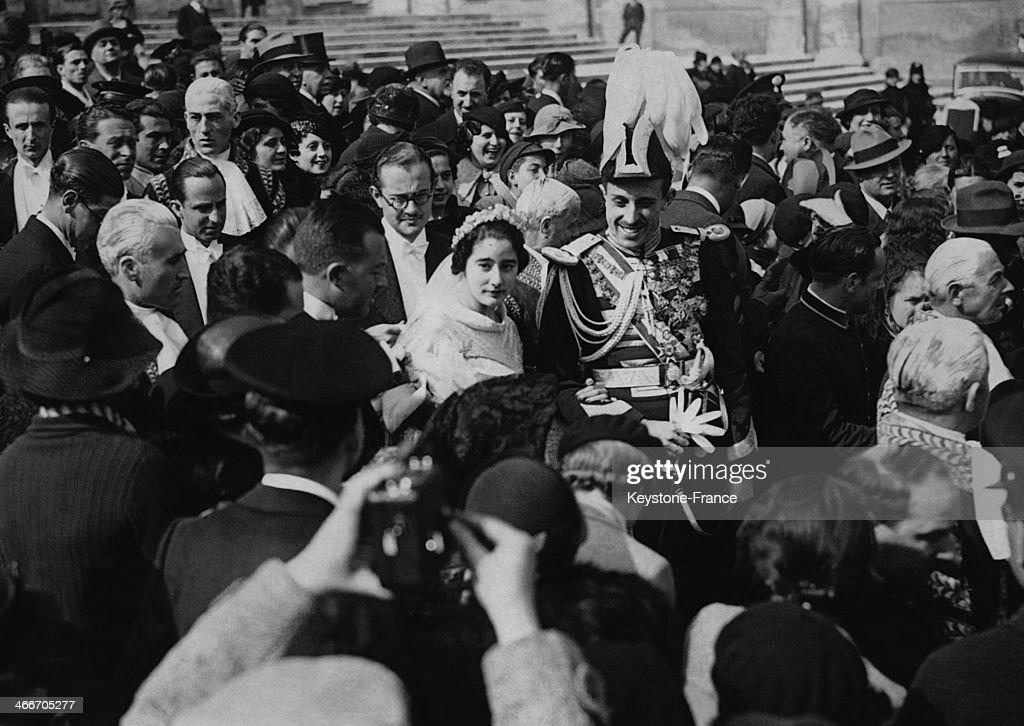 Wedding Of Princess Emmanuelle Of Dampierre And Of Spanish Infante Don Jaime : News Photo