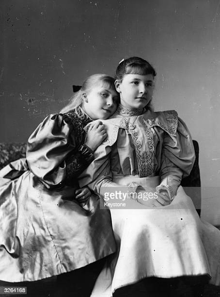 Princess Ena granddaughter of Queen Victoria with Princess Marie Elisabeth of Erbach Schoenberg Ena later married King Alfonso XIII of Spain and was...