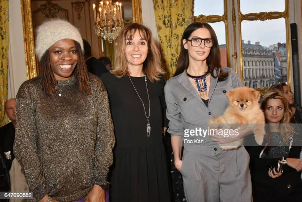 Princess Erika writer actress Anna Veronique El Baze and Frederique BelÊa attend the Ingie show as part of the Paris Fashion Week Womenswear...