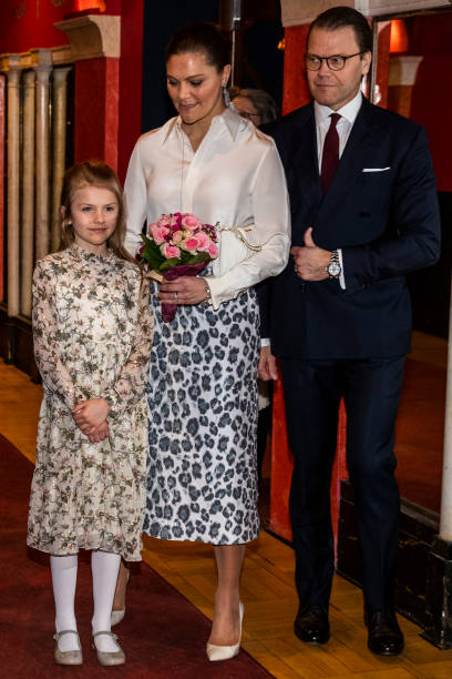 Princess Estelle Crown Princess Victoria and Prince Daniel of Sweden attend a concert hosted by Lilla Akademien a music school for children at Vasa...