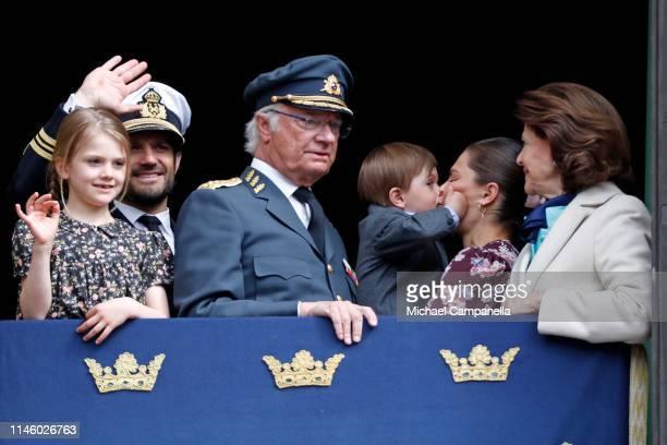 Princess Estelle Duchess of Ostergotland Prince Carl Philip Duke of Varmland King Carl XVI Gustaf of Sweden Prince Oscar Duke of Skane Crown Princess...