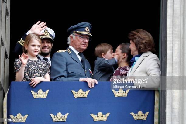 Princess Estelle, Duchess of Ostergotland, Prince Carl Philip, Duke of Varmland, King Carl XVI Gustaf of Sweden, Prince Oscar, Duke of Skane, Crown...