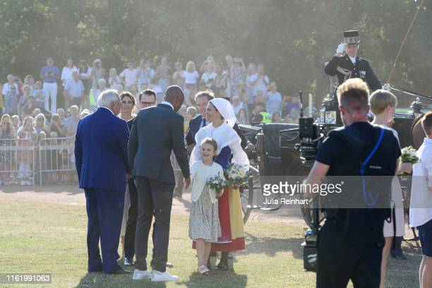 Princess Estelle of Sweden and Crown Princess Victoria of Sweden are seen on the occasion of The Crown Princess Victoria of Sweden's 42nd birthday...