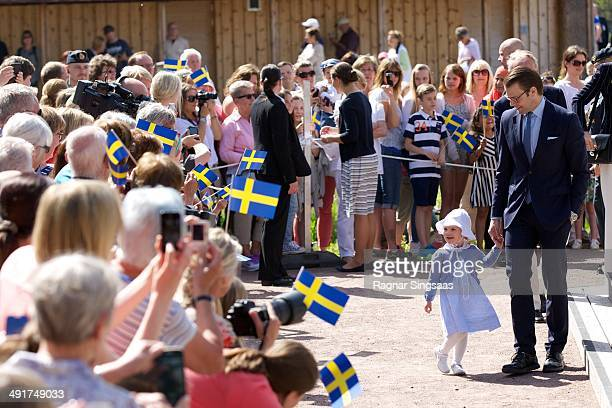 Princess Estelle of Sweden and Prince Daniel of Sweden open a Fairytale Path at Lake Takern on May 17 2014 in Mjolby Sweden