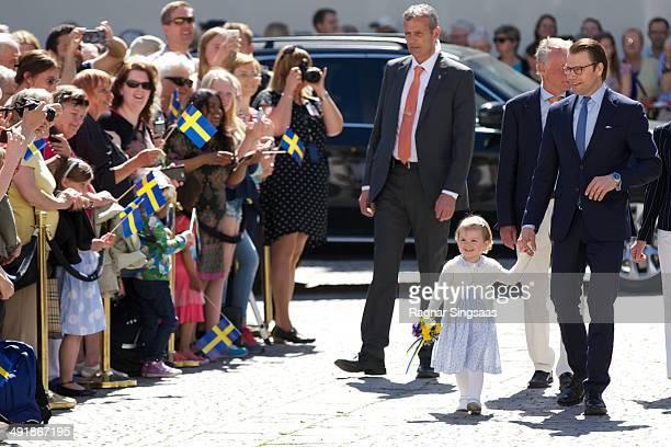 Princess Estelle of Sweden and Prince Daniel of Sweden visit Linkoping castle on May 17 2014 in Linkoping Sweden