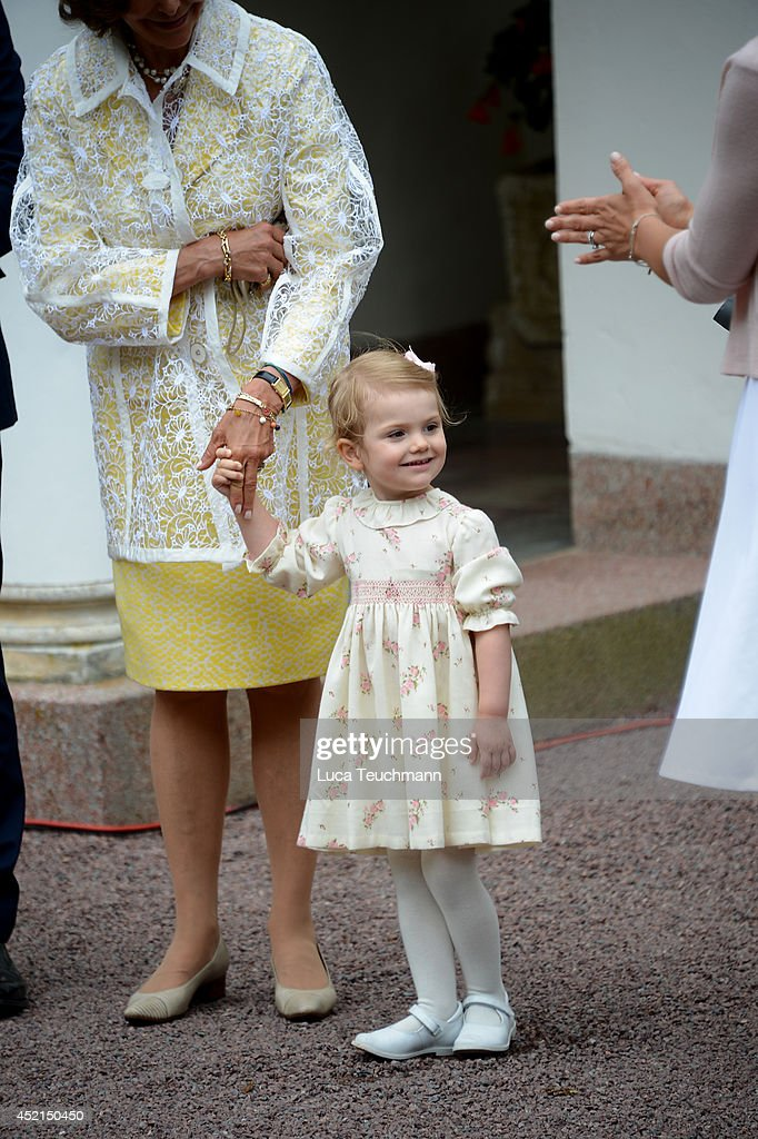 Princess Estelle of Sweden attend the Victoria Day celebrations, on the Crown Princess's 37th Birthday, at Solliden on July 14, 2014 in Oland, Sweden.