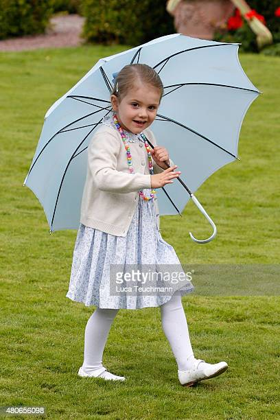 Princess Estelle of Sweden attends the 38th Birthday celebrations of Crown Princess Victoria of Sweden on July 14 2015 in Oland Sweden