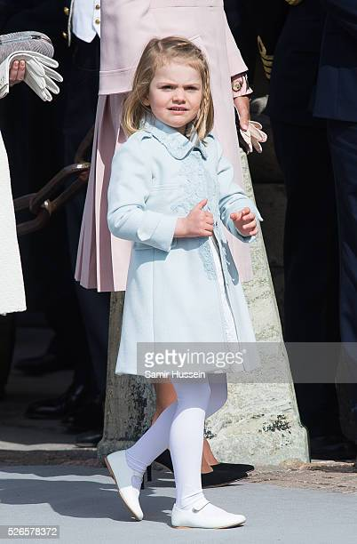 Princess Estelle of Sweden attends the celebrations of the Swedish Armed Forces for the 70th birthday of King Carl Gustaf of Sweden on April 30 2016...