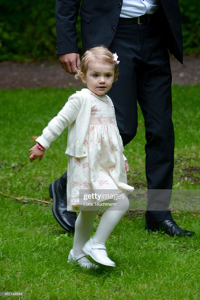 Princess Estelle of Sweden attends the Victoria Day celebrations, on the Crown Princess's 37th Birthday, at Solliden on July 14, 2014 in Oland, Sweden.