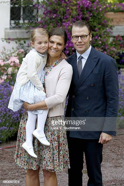 Princess Estelle of Sweden Crown Princess Victoria of Sweden and Prince Daniel of Sweden attend the 38th Birthday celebrations of Crown Princess...