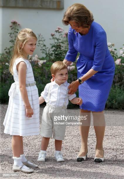 Princess Estelle of Sweden Crown Princess Victoria of Sweden and Prince Daniel of Sweden during the occasion of the Crown Princess Victoria of...