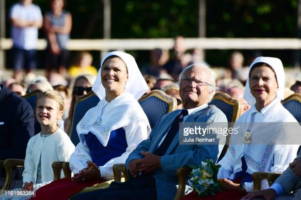 Princess Estelle of Sweden Crown Princess Victoria of Sweden King Carl Gustaf of Sweden and Queen Silvia of Sweden are seen on the occasion of The...