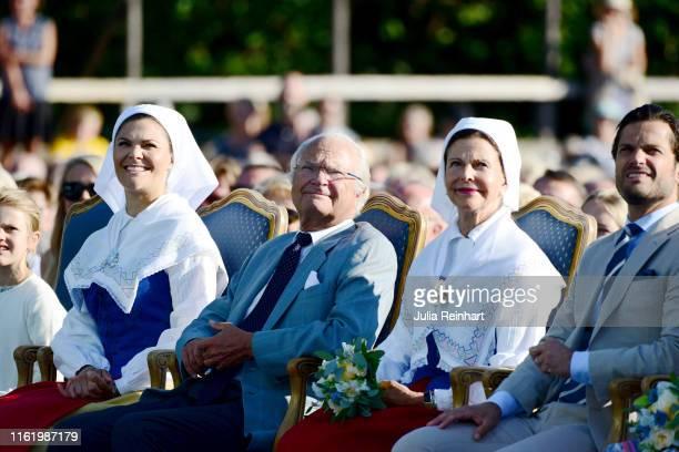 Princess Estelle of Sweden Crown Princess Victoria of Sweden King Carl Gustaf of Sweden Queen Silvia of Sweden and Prince Carl Philip of Sweden are...