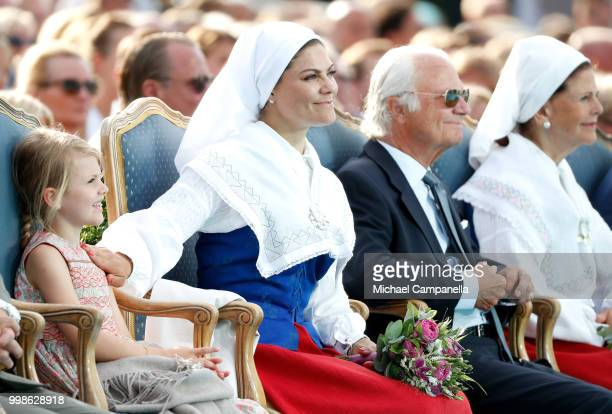 Princess Estelle of Sweden Crown Princess Victoria of Sweden King Carl Gustaf of Sweden and Queen Silvia of Sweden during the occasion of The Crown...