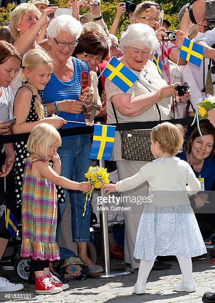 Princess Estelle of Sweden opens a Fairytale Path at Lake Takern on May 17, 2014 in Mjolby, Sweden.