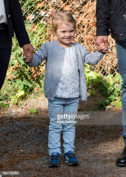 Princess Estelle of Sweden's first day at preschool on August 25 2014 in Stockholm Sweden