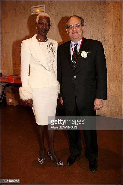 Princess Esther Kamatari and professor Khayat in Paris France on March 22 2007