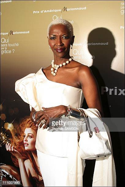 Princess Esther Kamatari at the Gala Award of Amerique Marionnaud Prize in favor of Patronage Cardiac Surgery at the Art Modern Museum in Paris...