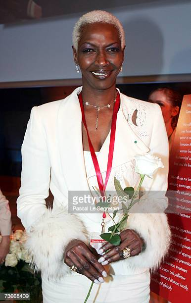 Princess Esther Kamatari attends The First Global Summit On Cervical Cancer on March 22nd 2007 at the UNESCO House in Paris France