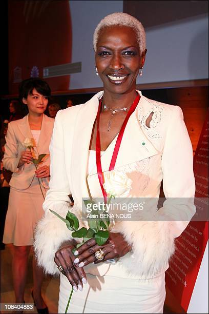 Princess Esther Kamatari in Paris France on March 22 2007