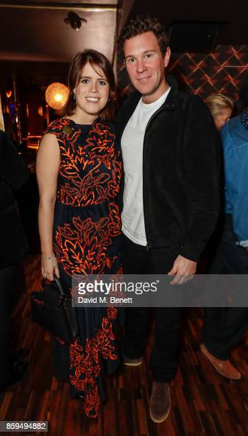 Princess Eugenie and Jack Brooksbank attend during Leo's At The Arts Club Launch Party on October 9 2017 in London England