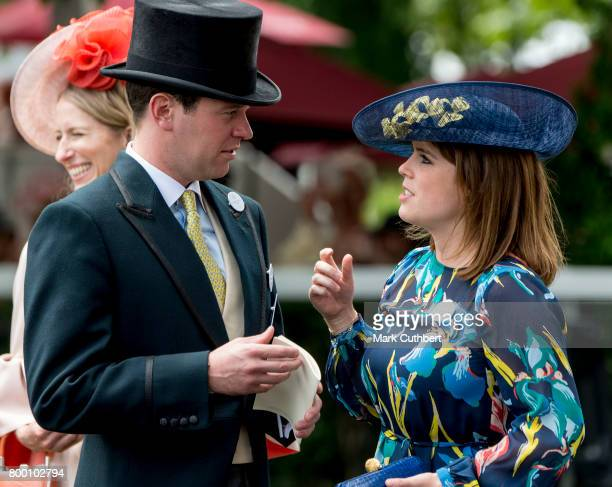 Princess Eugenie and Jack Brooksbank attend Royal Ascot 2017 at Ascot Racecourse on June 23 2017 in Ascot England