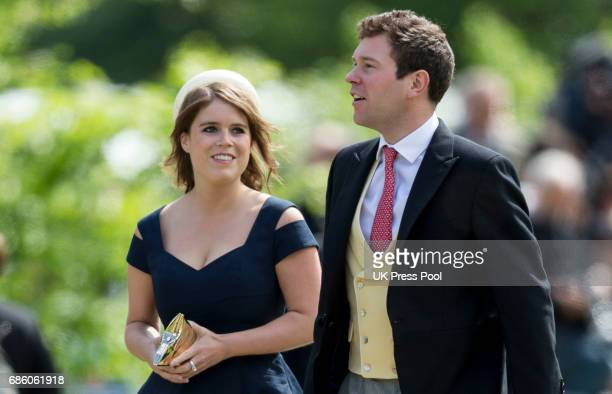 Princess Eugenie and Jack Brooksbank attend the wedding of Pippa Middleton and James Matthews at St Mark's Church on May 20 2017 in Englefield Green...